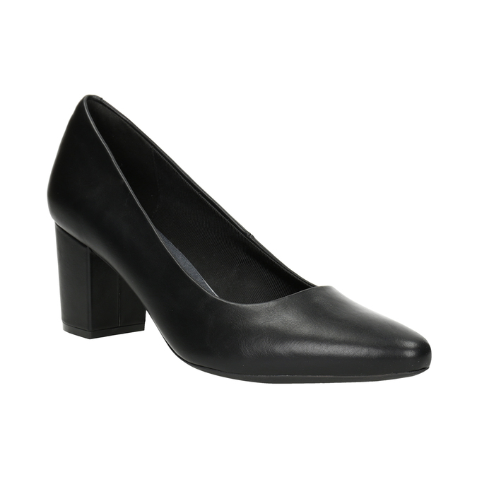 Ladies' black pumps rockport, black , 724-6048 - 13