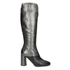 Ladies' Leather High Boots, silver , 796-8027 - 26