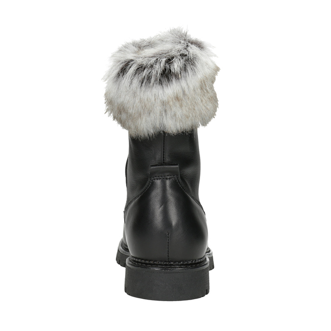 Ladies' Leather High Boots bata, black , 594-6657 - 16