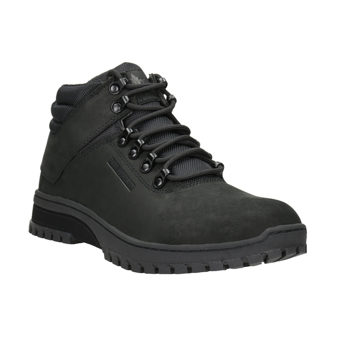 Men's black ankle boots, black , 806-6495 - 13