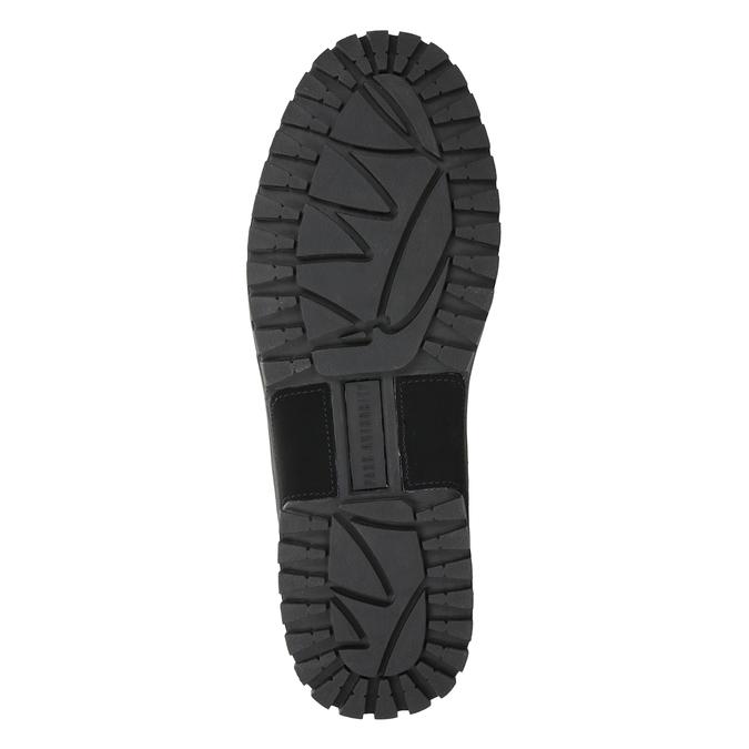 Men's black ankle boots, black , 806-6495 - 17