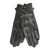 Ladies' black leather gloves bata, black , 904-6131 - 13