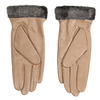 Ladies' beige leather gloves bata, beige , 904-4112 - 16