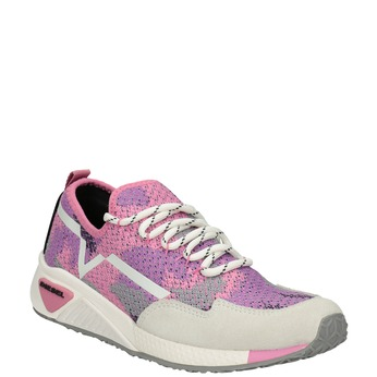 Pink sporty sneakers diesel, red , 509-5760 - 13