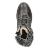 Leather Winter Boots with Fur bata, gray , 594-6650 - 17