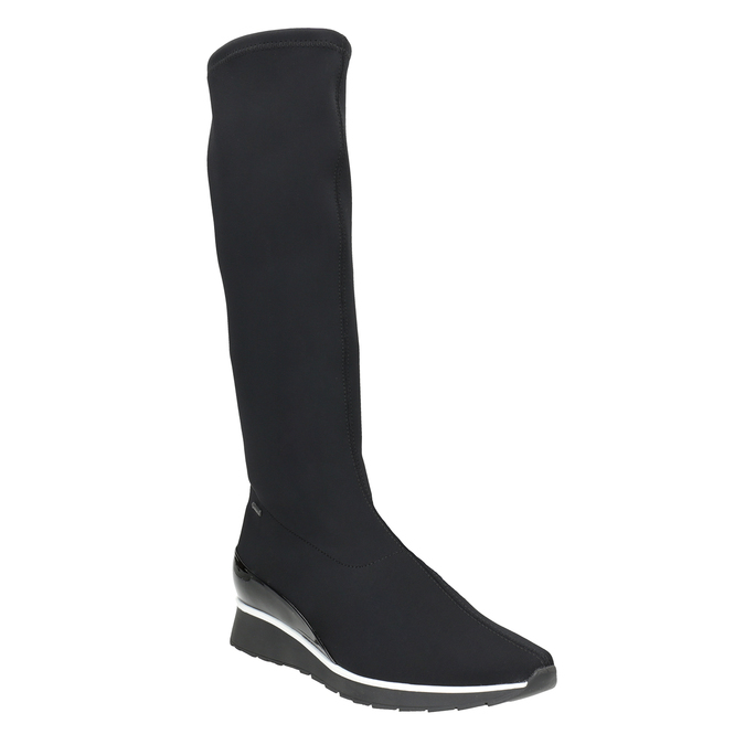 Ladies' Textile High Boots hogl, black , 699-6032 - 13