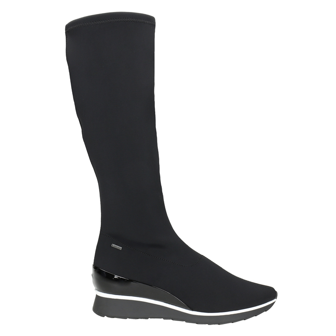 Ladies' Textile High Boots hogl, black , 699-6032 - 26