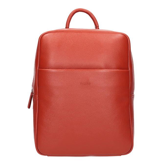 Red leather backpack picard, red , 964-4045 - 26