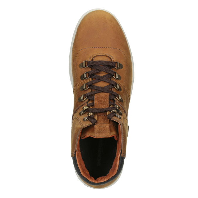 Men's Leather Ankle Boots weinbrenner, brown , 896-3701 - 15
