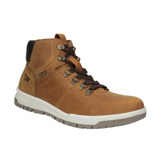 Men's Leather Ankle Boots weinbrenner, brown , 896-3701 - 13