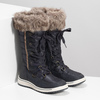 Ladies' snow boots with fur bata, blue , 599-9620 - 26