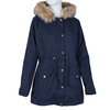 Ladies' Parka with Removable Fur bata, blue , 979-9131 - 13