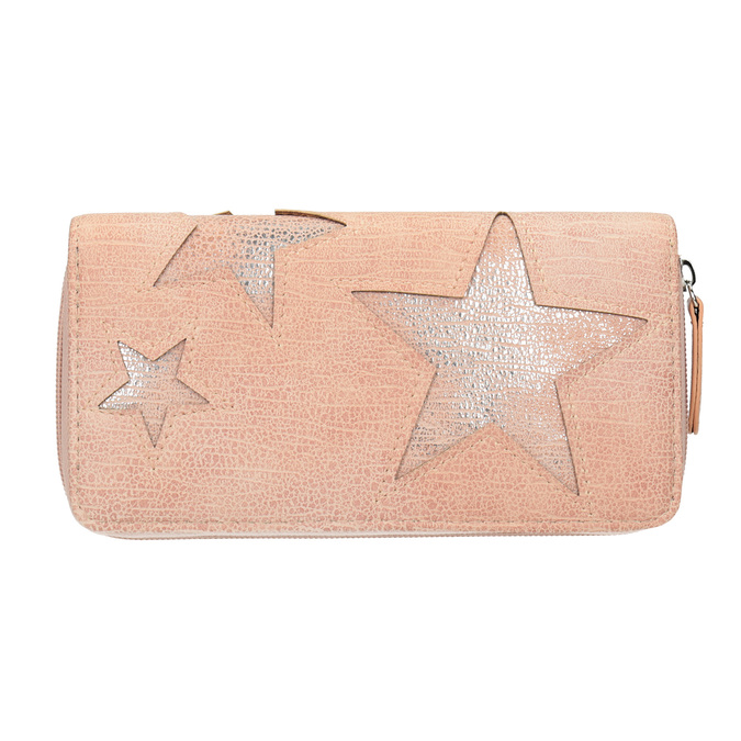 Pink Wallet with Stars bata, pink , 941-5154 - 26