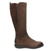 Brown leather high boots with zip flexible, brown , 594-4651 - 16