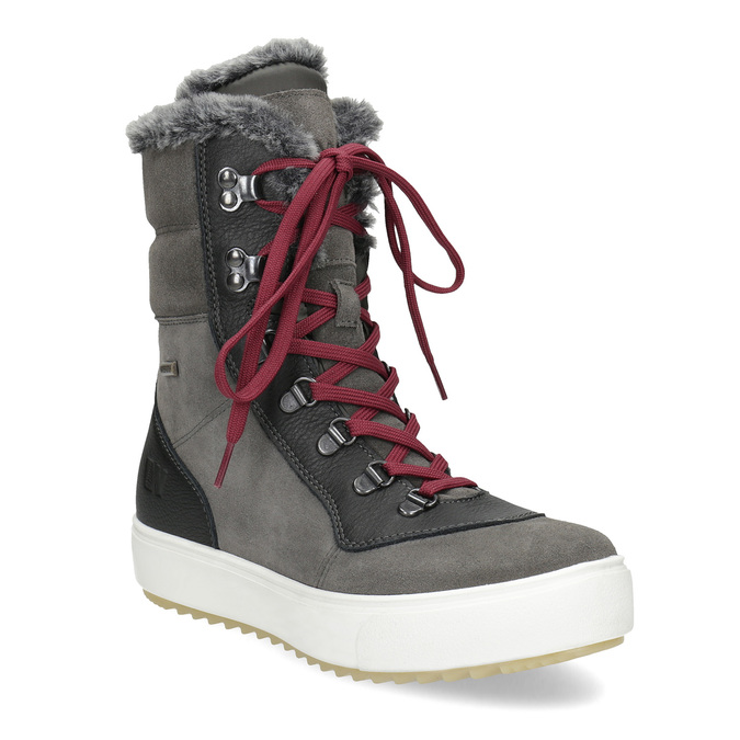 Ladies' leather snow boots weinbrenner, gray , 593-4601 - 13