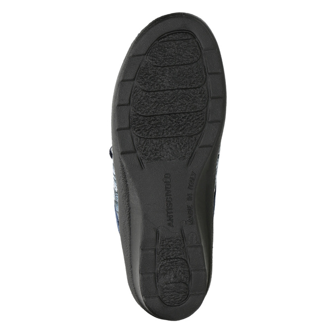 Ladies' slippers bata, blue , 579-9623 - 19