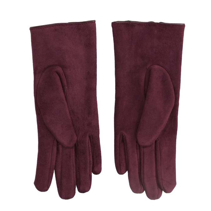 Ladies' gloves with bow bata, red , 909-5613 - 16
