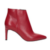 Red leather high ankle boots bata, red , 794-5651 - 16
