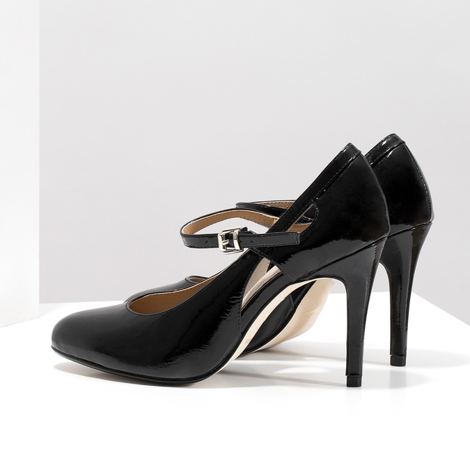 Patent pumps with cut-outs insolia, black , 721-6614 - 16