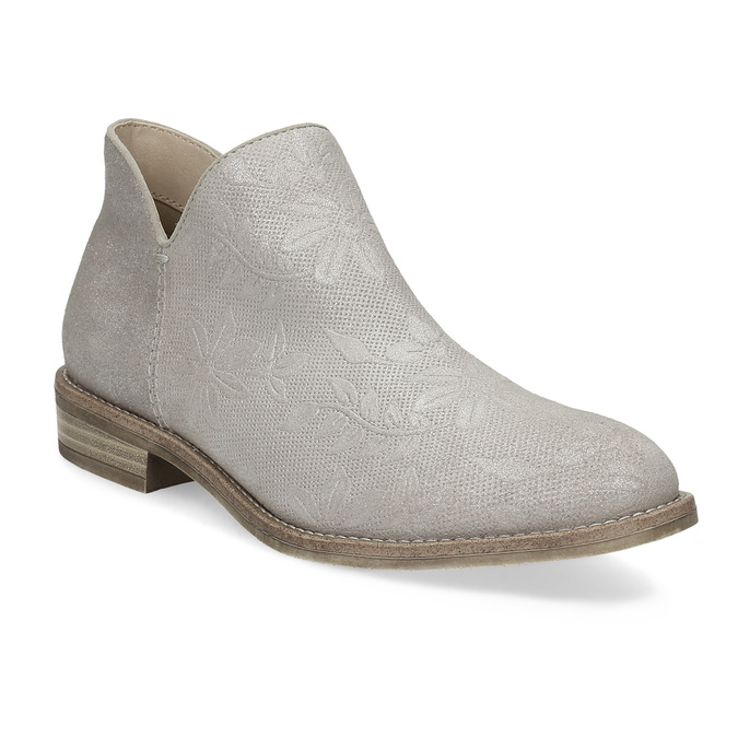 Ladies' ankle boots bata, gray , 596-2685 - 13