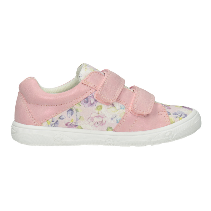 Girls' pink sneakers with a pattern mini-b, 221-5215 - 26