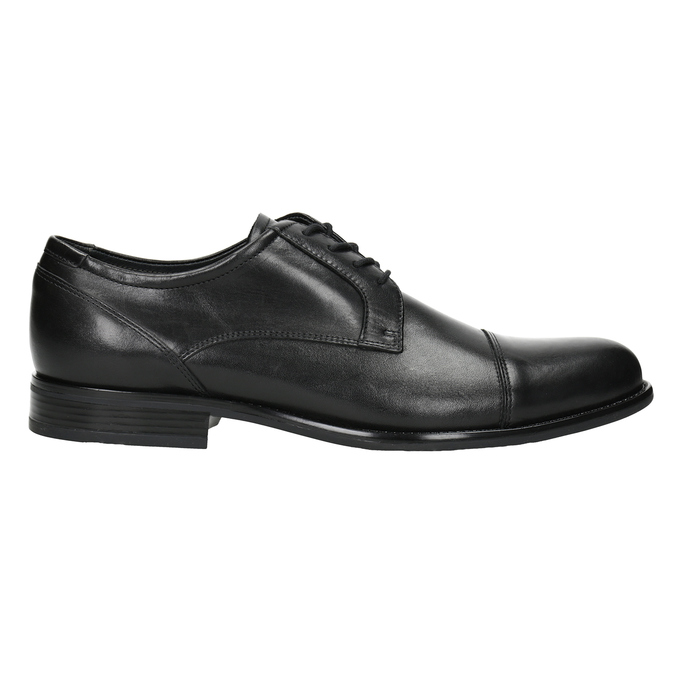 Men's Leather Derby Shoes, black , 824-6995 - 26