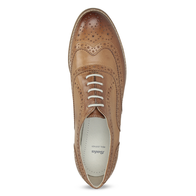 Ladies' leather shoes bata, brown , 526-3649 - 17