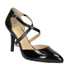Pumps with crossed straps insolia, black , 721-6617 - 13