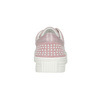 Pink leather sneakers with small pearls bata, pink , 546-5606 - 16