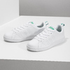 White sneakers with green details adidas, white , 501-1300 - 16