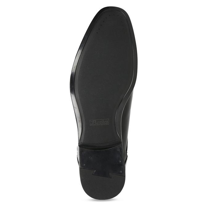Men's leather shoes bata, black , 824-6758 - 18