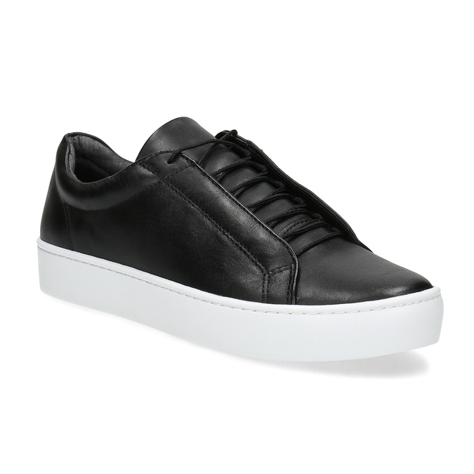 Black leather sneakers vagabond, black , 624-6014 - 13