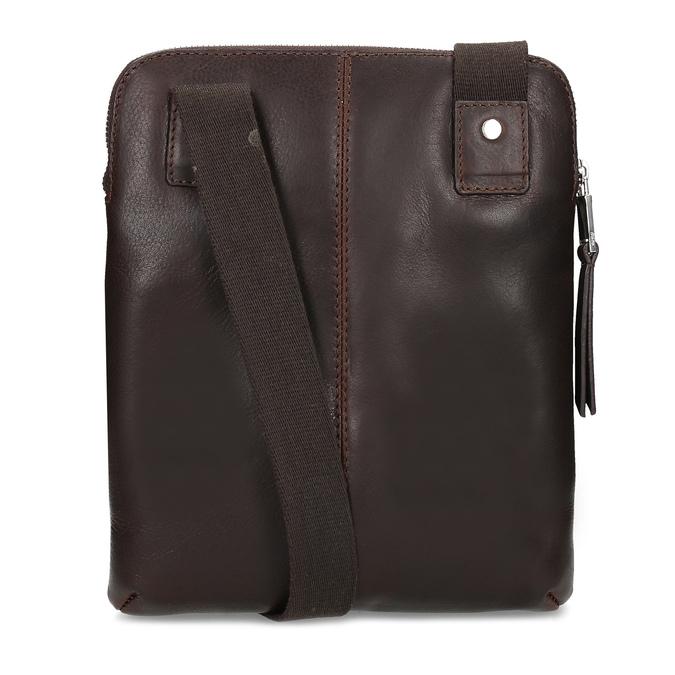 Leather crossbody bag, brown , 964-4237 - 16