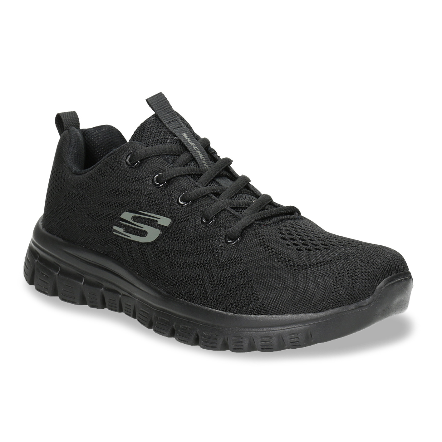 Skechers Black Athletic Sneakers with