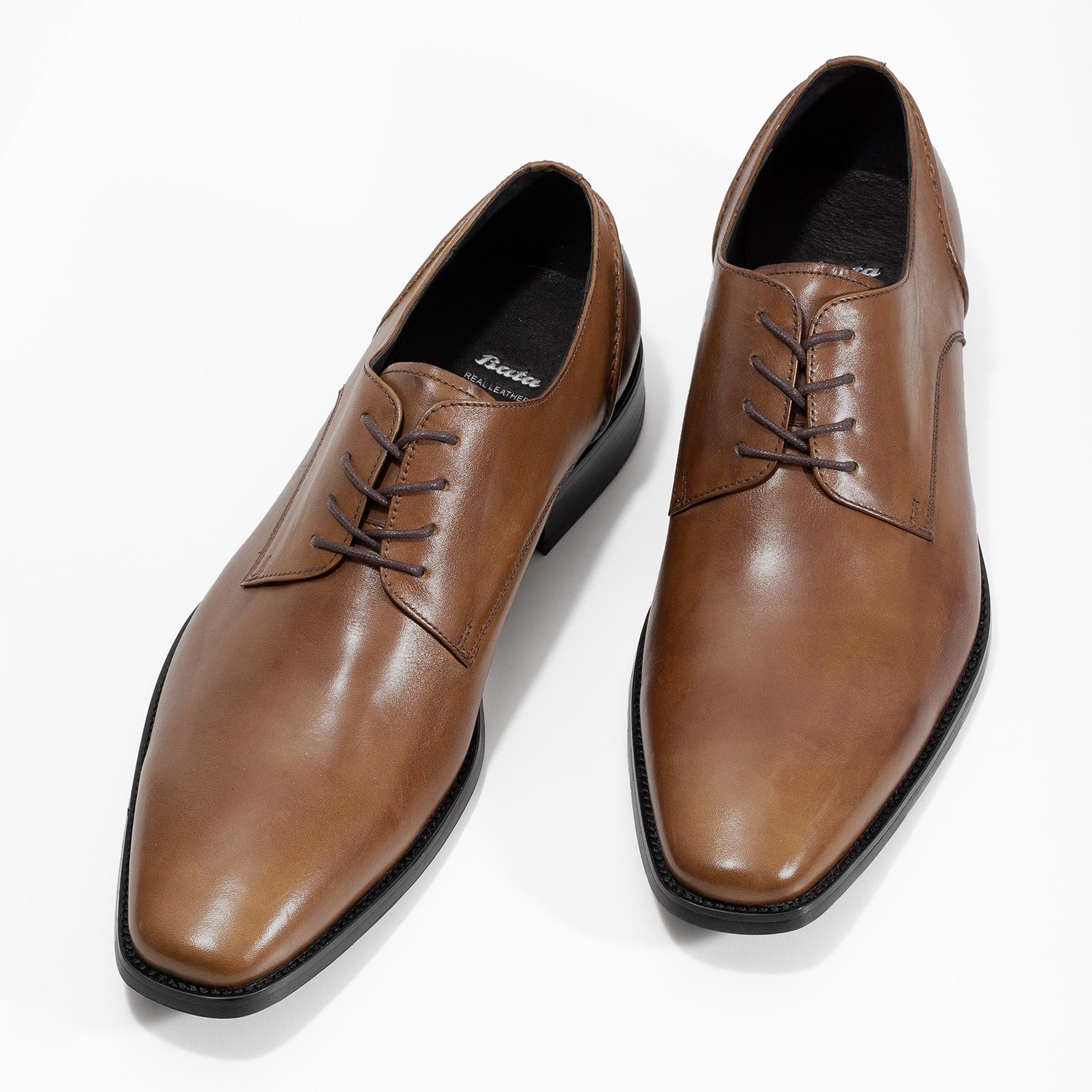 6626eab268 Bata Brown Leather Derby Shoes - Dress